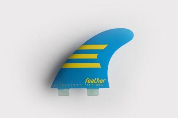 quillas-de-surf-feather-fins-hc-epoxy-ultraligth-dual tab-azul-amarillo